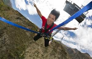 aj hackett ledge swing top ten new zealand adventure activities all the thrills