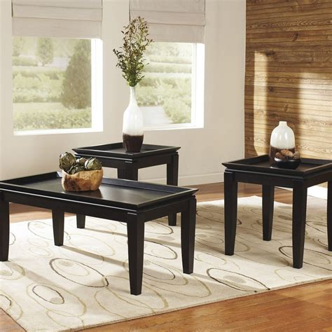 Black Living Room Table Sets Black Coffee Table Sets For Living Room