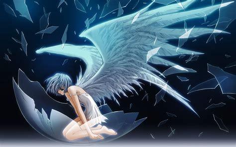 anime girl angel wallpaper fallen angel anime girls wallpapers theanimegallery com
