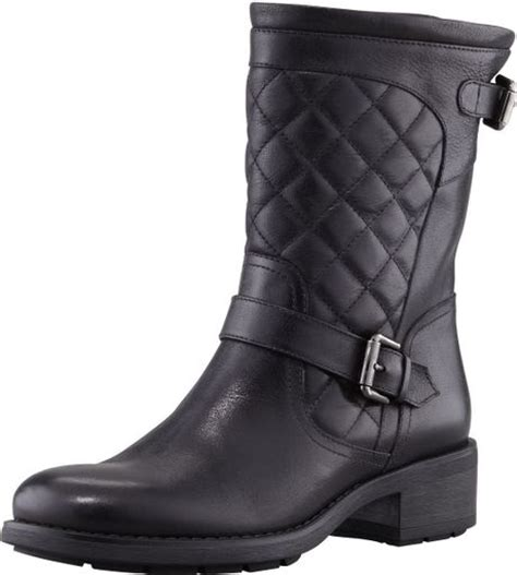 black moto boots short aquatalia by marvin k sweetness short quilted moto boot