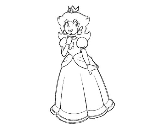 free baby princess daisy coloring pages
