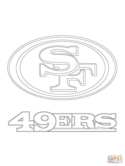 49ers Coloring Page by San Fransisco Free Coloring Pages