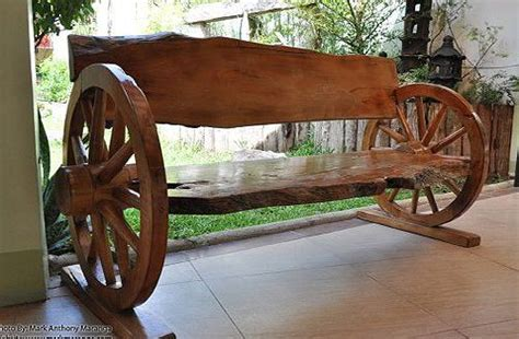 wagon wheel bench seat design of this wooden wagon wheel style garden bench seat