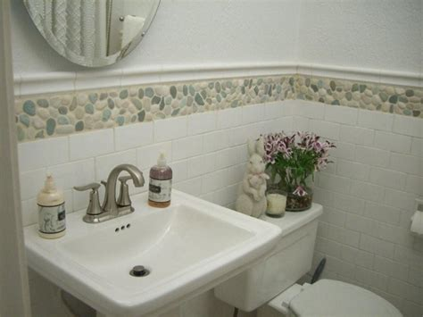 green and white tiles for bathroom green and white mix pebble tile modern bathroom by