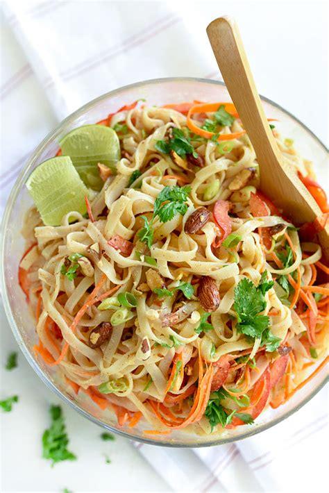 cold noodle salad recipes thai coconut noodle salad foodiecrush