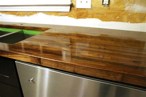 diy distressed wood countertops how to build a butcher block countertop reclaimed bar