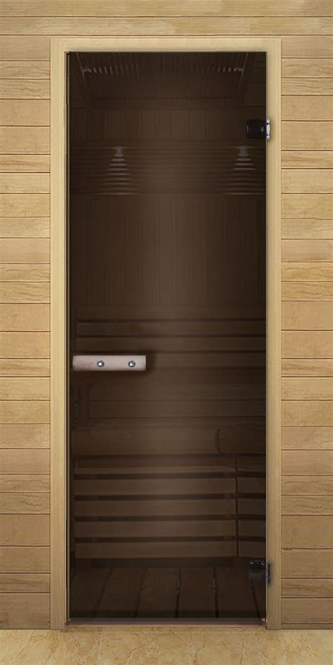 single swing door brown single swing door to the sauna