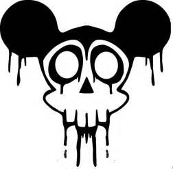 black, drawing, silhouette, skull, white, cartoon
