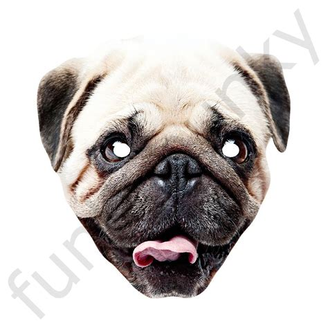 pug mask pug personalised and masks with next day delivery