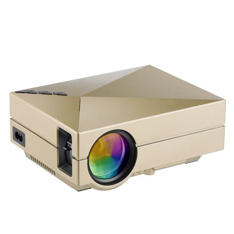 Proyektor Gm60 gm60 mini 3d projector hd 1080p home proyector home theater screen tv beamer led usb