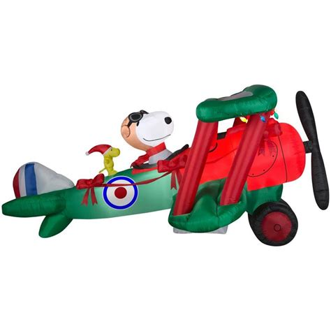 snoopy 12 ft inflatable holiday airplane lowe s 99 00 50