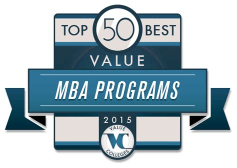 Top 50 Mba Programs by Best Value Master S In Business Administration Degree