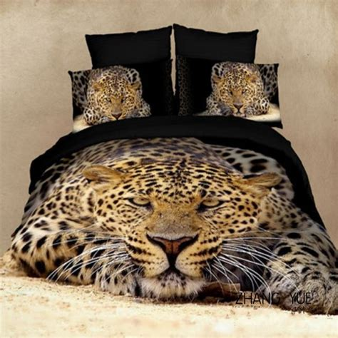 animal print bed linen 3d animal print home textile leopard tiger comforter duvet