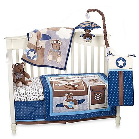 Aviator Crib Bedding Cocalo Baby 174 Lil Aviator Crib Bedding Collection Bed Bath Beyond