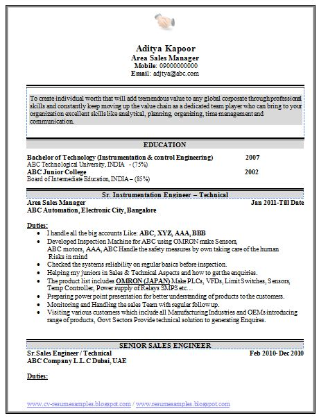 Free Indian Resume Sles 10000 Cv And Resume Sles With Free Beautiful Sales Resume Sle