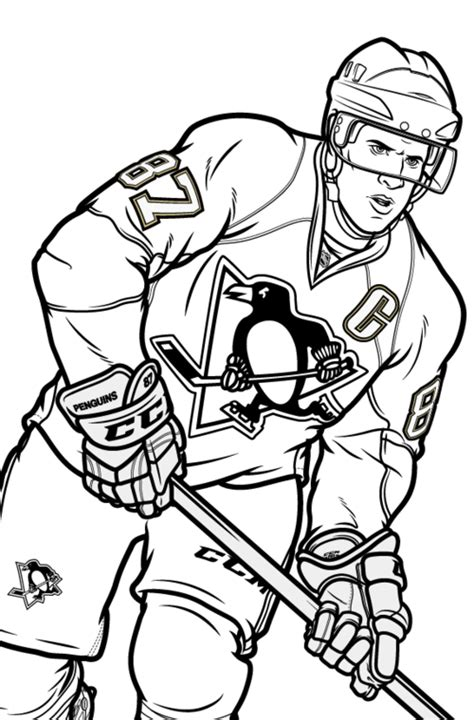 hockey coloring pages of sidney crosby the art of stephen s