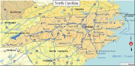 nc state map carolina facts and symbols us state facts