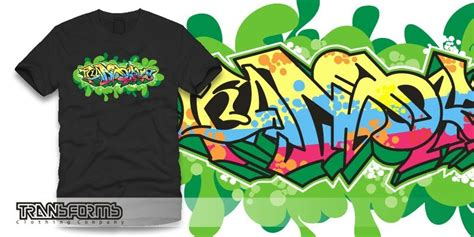 grafity font transforms clothing clothes  graffiti