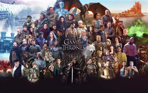 cast of game of thrones with pictures game of thrones all cast hd tv shows 4k wallpapers