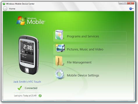 mobile device center windows mobile device center tiếng việt