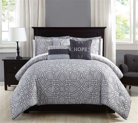 charcoal gray comforter sets 10 piece isabelle gray charcoal comforter set