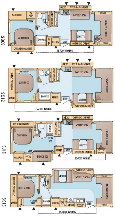 c trailer floor plans jayco greyhawk class c motorhome floorplans large