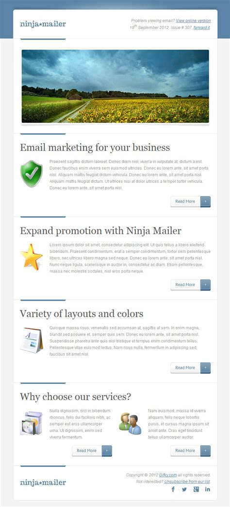 ninja mailer premium email template by gifky themeforest