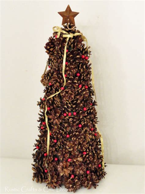 pine cone tree craft project diy pinecone decor for the holidays rustic crafts chic