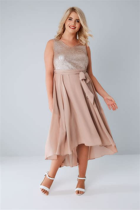 Dress With Sequin dusty pink midi dress with sequin bodice waist tie plus