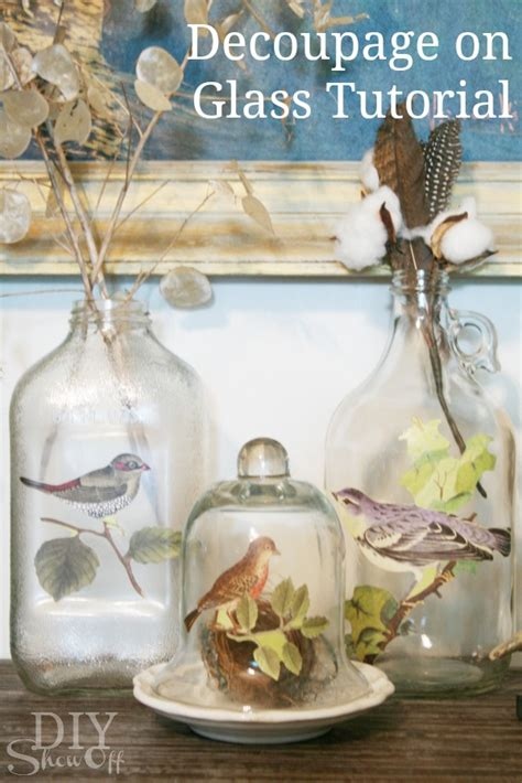 How To Decoupage On Glass - diy how to decoupage glass bottle the inspired room