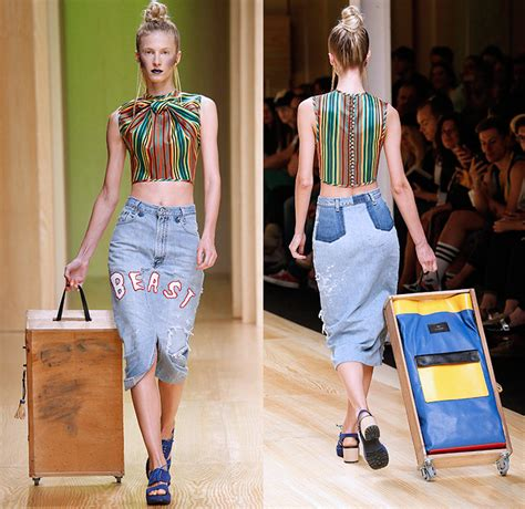 Fashion Misfit Catwalk by Brain Beast 2015 Summer Womens Looks Denim