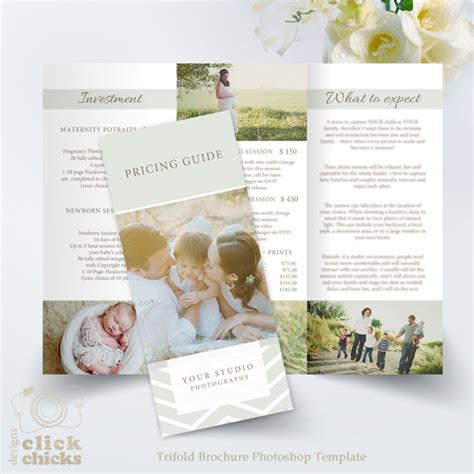 welcome brochure template newborn photography trifold
