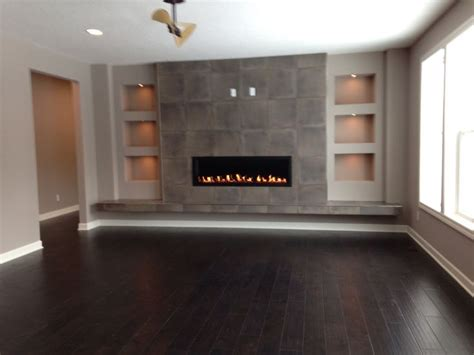 fantastic  built insmodern fireplace media wall