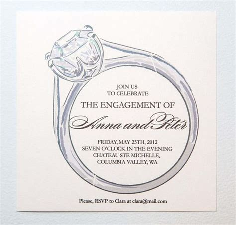ring ceremony invitation card template free engagement invitation templates free places to