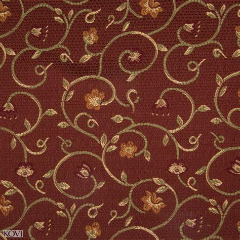 brocade upholstery fabric brick red scroll brocade upholstery fabric