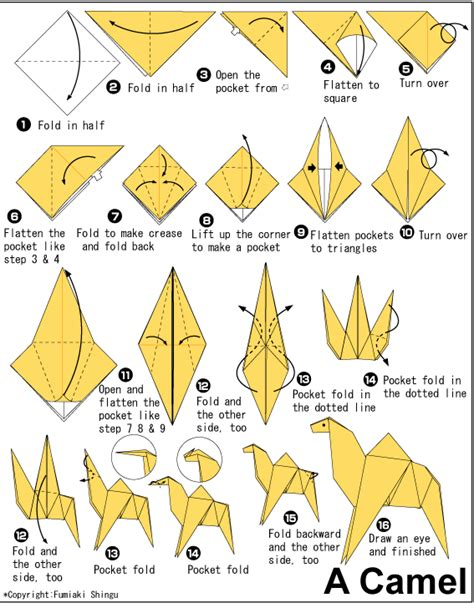 Origami Camel - camel easy origami for