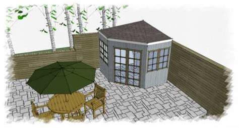 corner garden shed  save space