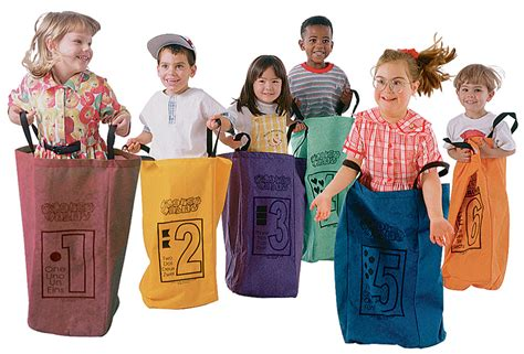Potato sack jumping bags for kids
