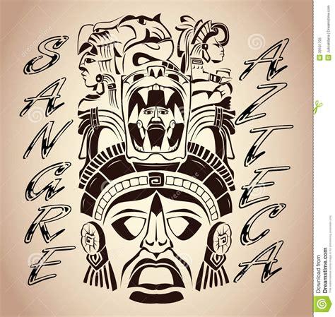 sangre azteca aztec blood aztec pride stock vector
