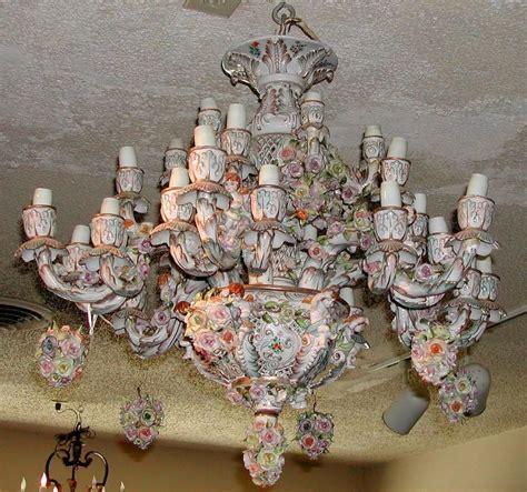 looking porcelain chandelier antique 26 capodimonte
