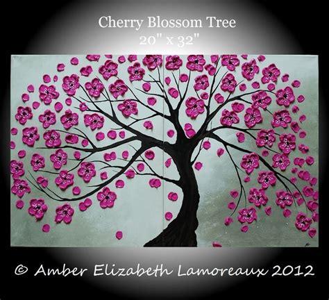 cherry tree mac os x large original impasto painting cherry blossom tree 20 x 32 acrylic on canvas