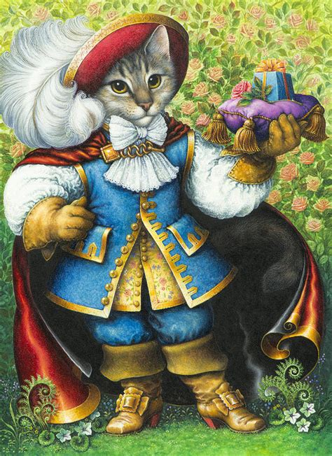 puss in boots painting puss in boots print by bywaters