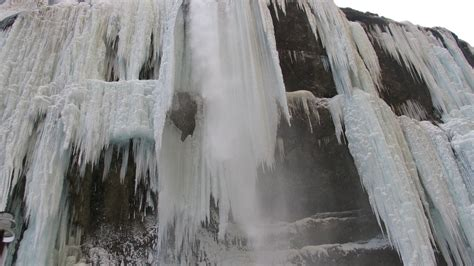 frozen waterfall wallpaper frozen waterfall on the river chegem desktop wallpapers