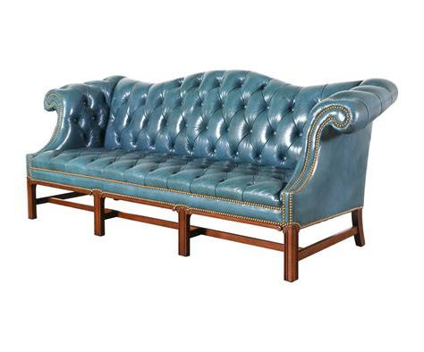 Teal Chesterfield Sofa Vintage Leather Teal Blue Chesterfield Sofa For Sale At 1stdibs