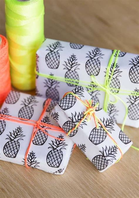 diy printable wrapping paper diy free printable pineapple wrapping paper creativity