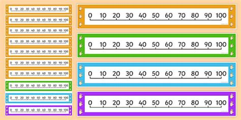 indonesian numbers 1 100 printable counting in 10s number line counting numberline number