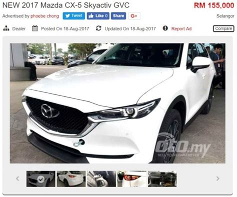 mazda cx 5 resale value malaysia 2017 mazda cx 5 appears on oto my four variants