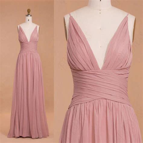 Dress Pretty Dusty Pink spaghetti straps dusty pink bridesmaid dresses mypromdress