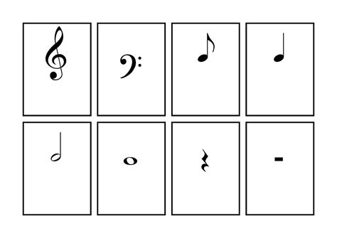 reading music flashcards printable piano rest symbol