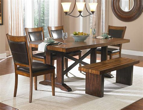 rustic dining room table with bench dining room inspire rustic dining room sets with bench